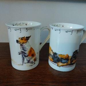 Terrier & Bernese Mtn Dog mugs set of 2